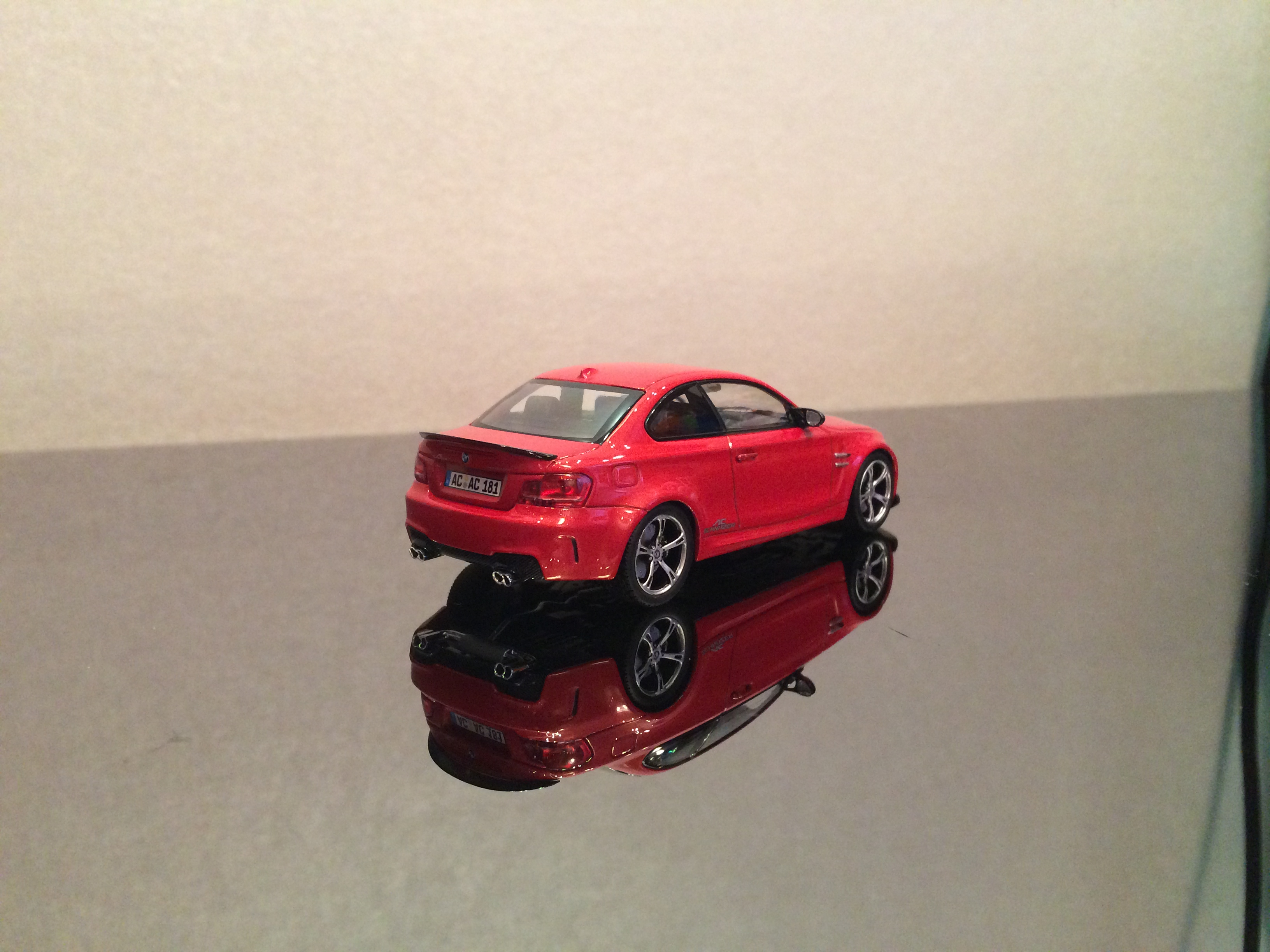 BMW 1M coupe (E82) ACS 1 Sport, valencia orange, le 1 of 528pcs. (minichamps)