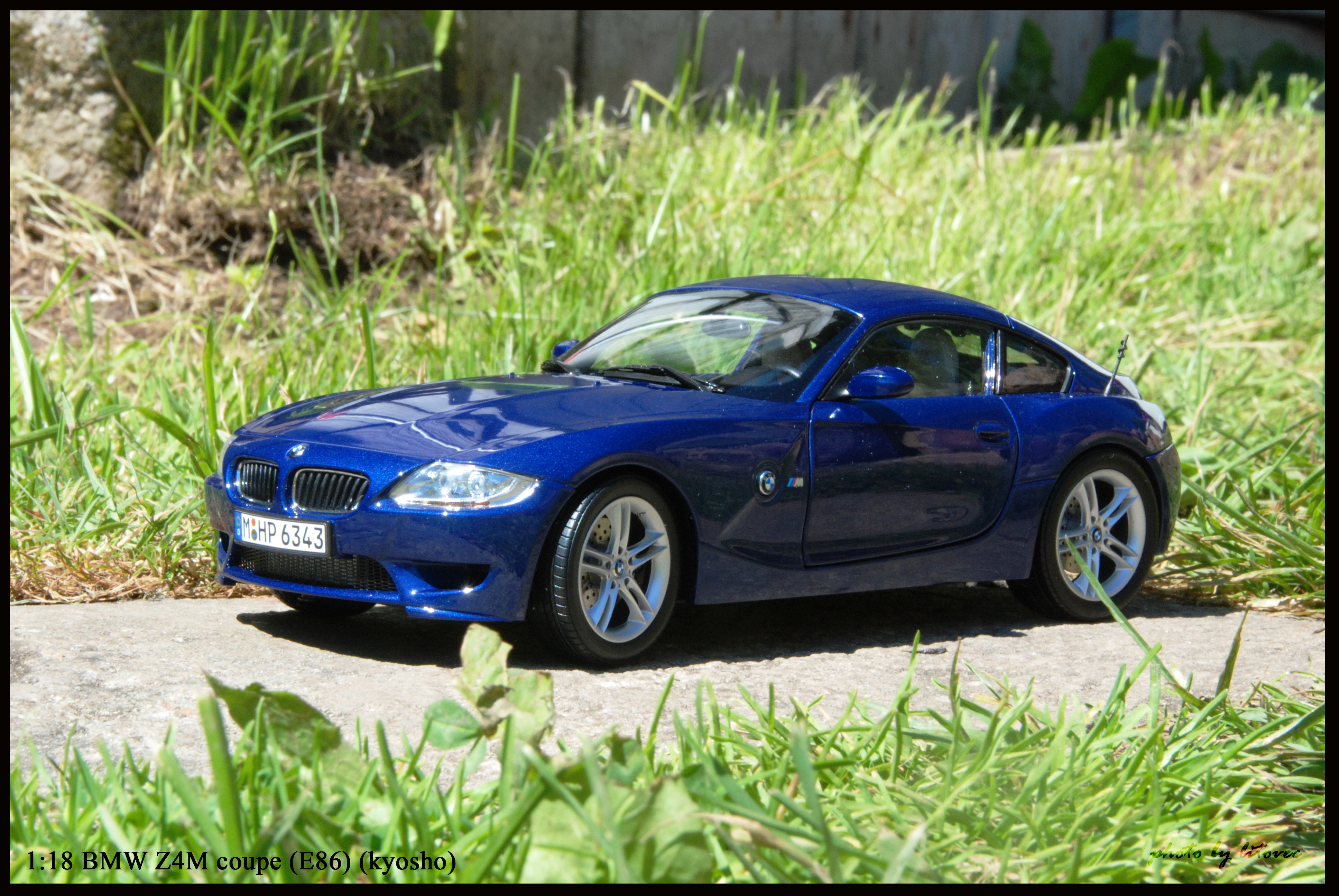 BMW Z4M coupe (E86) blue (kyosho)