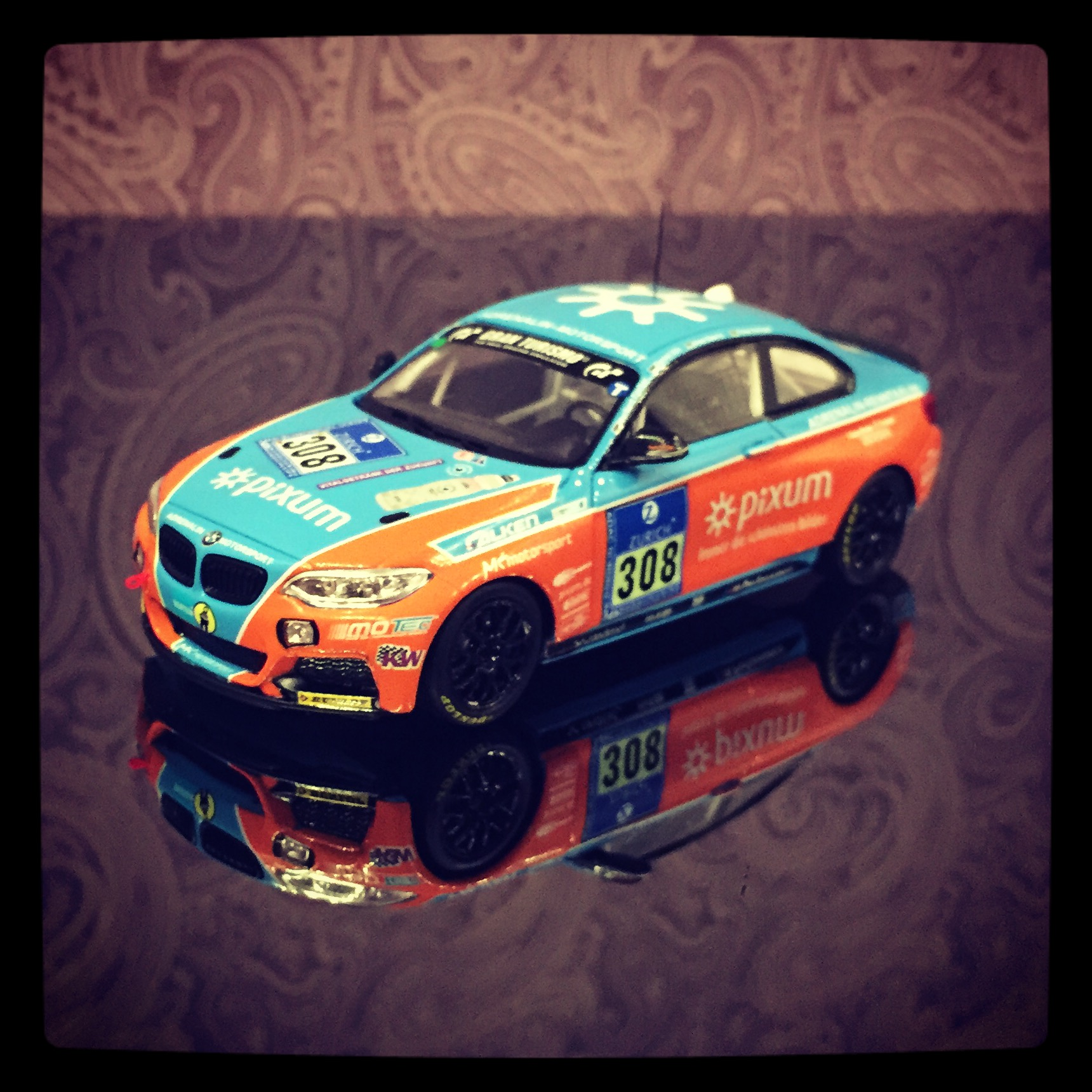 BMW M235i (F22) racing, team Adrenalin Motorsport, #308 Fischer/Zils/Eberts/Schupp, 24h Nurburgring 2014, le 1 of 514pcs. (Minichamps)