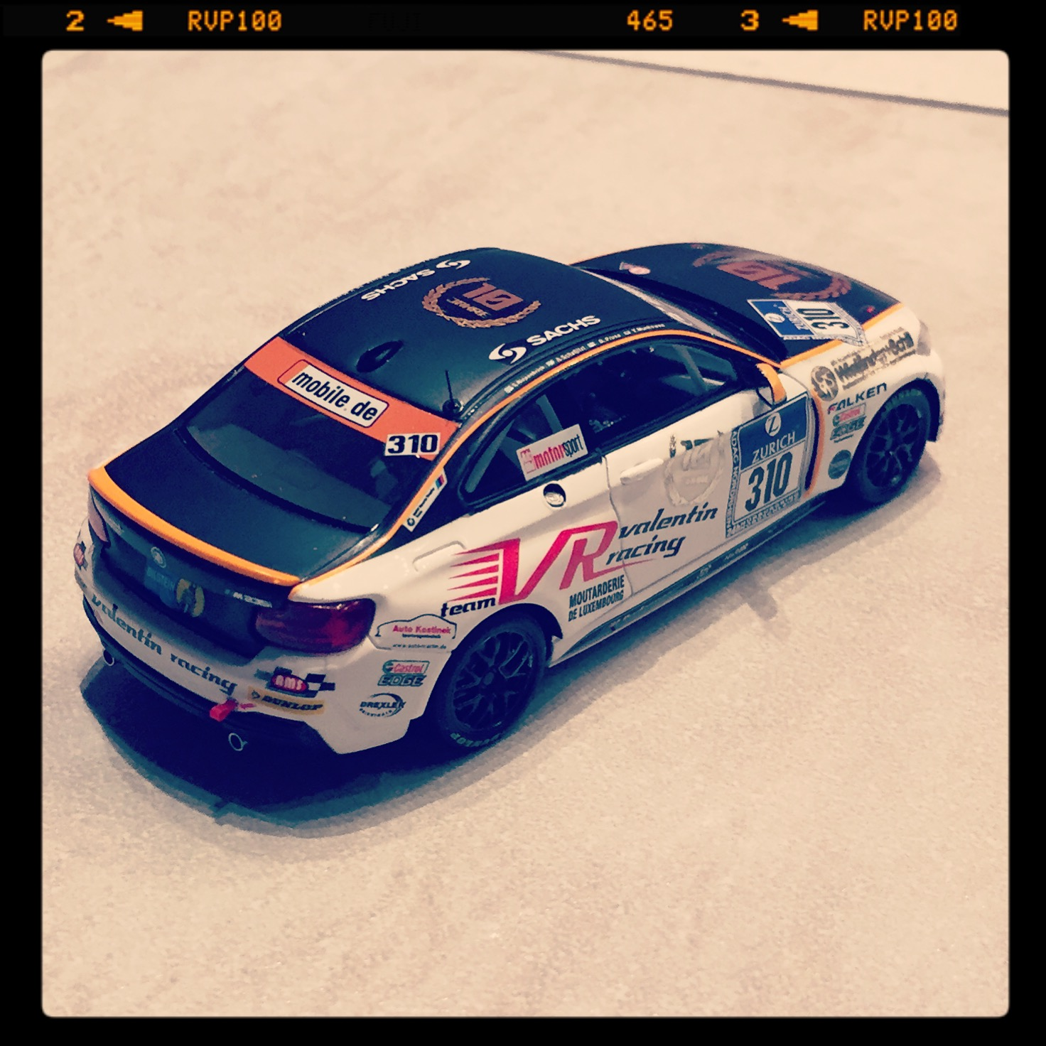 BMW M235i (F22) racing, team Valentin racing, #310 Piepenbrink/Schaflitzl/Prusa/Munhowen, 24h Nurburgring 2014, le 1 of 514pcs. (minichamps)